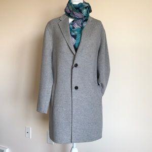 Zara classic topcoat gray Large